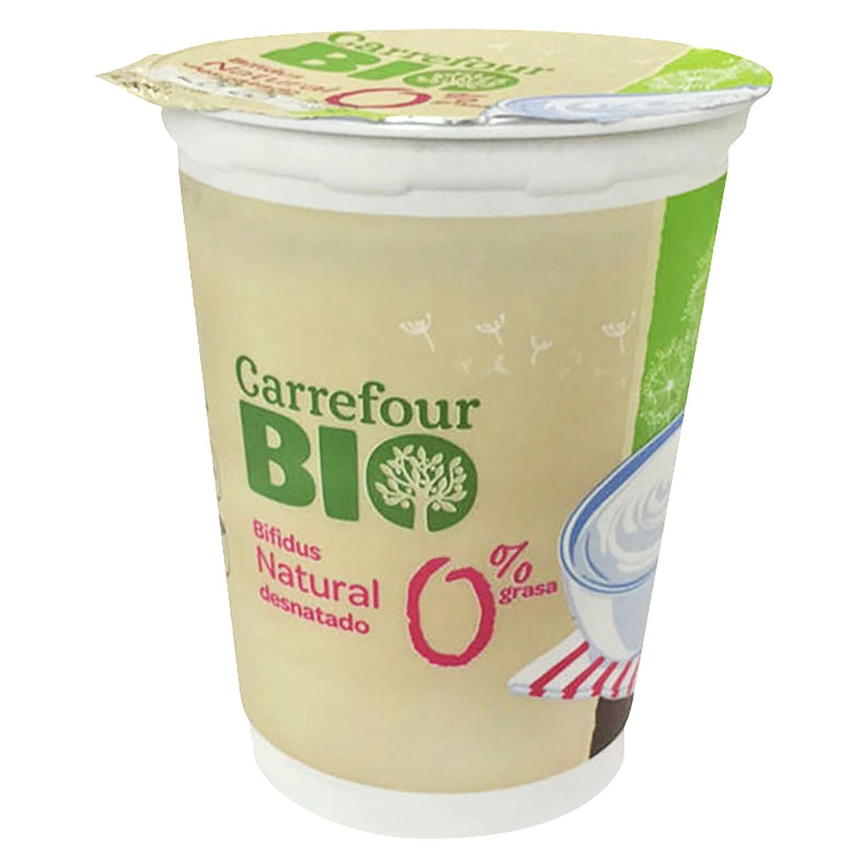 yogur natural desnatado con bifidus